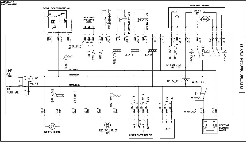 electrolux schematics  wiring diagram for drum switch