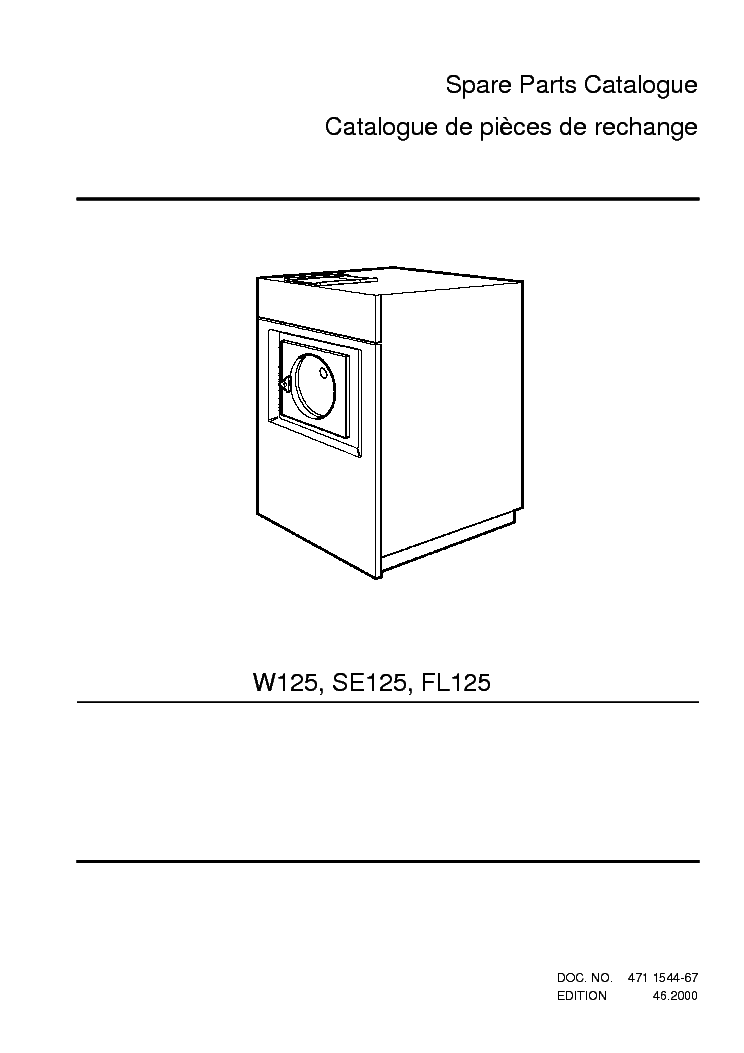 electrolux wascomat w125 se125 fl125 service manual electrolux wascomat w125 se125 fl125 service manual