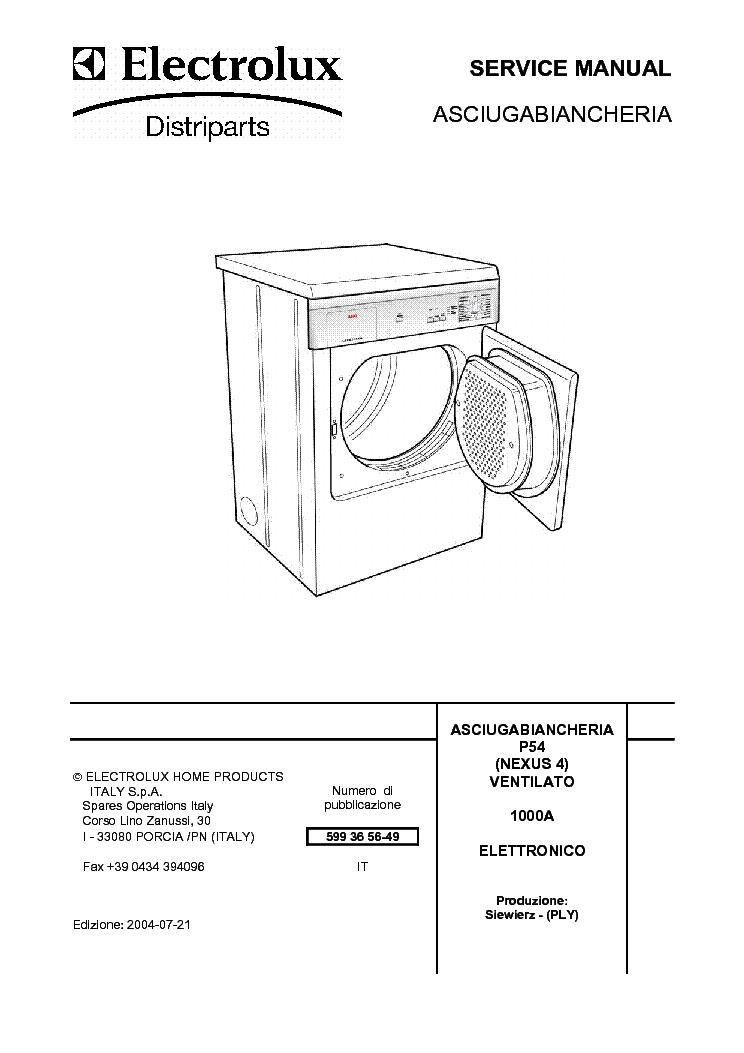 elektrolux dryer nexus4 sm service manual download  schematics  eeprom  repair info for