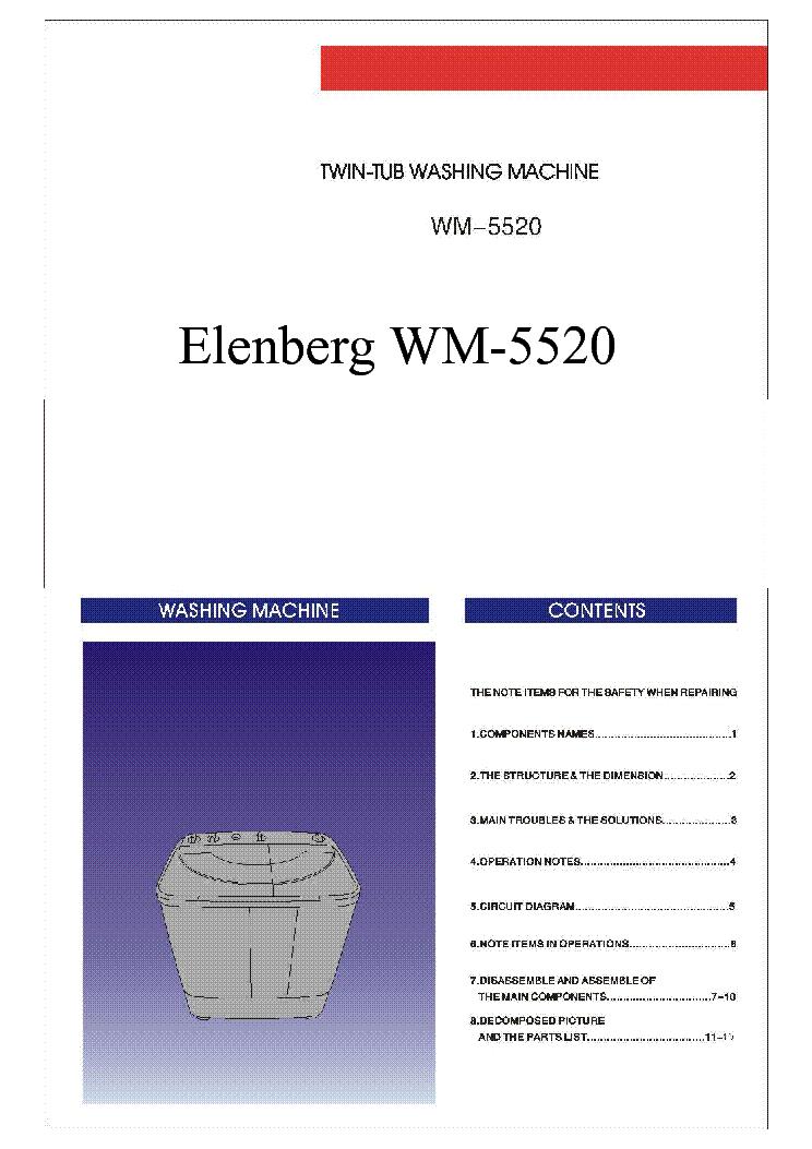Стиральной Машины Elenberg