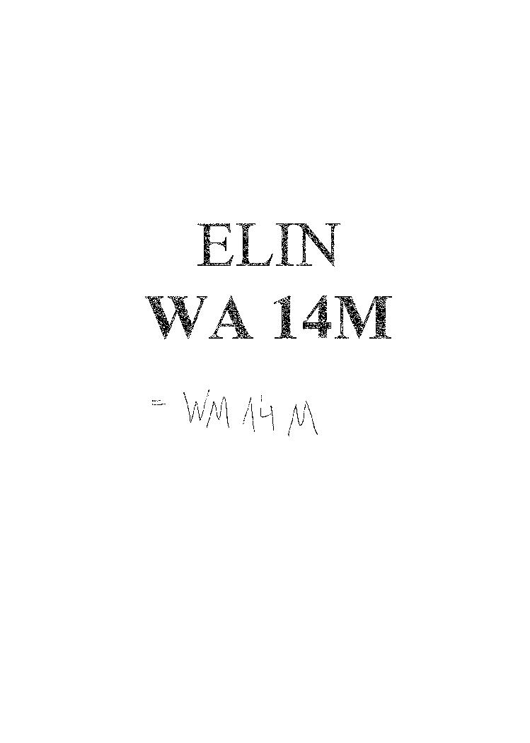 ELIN WM 14 M