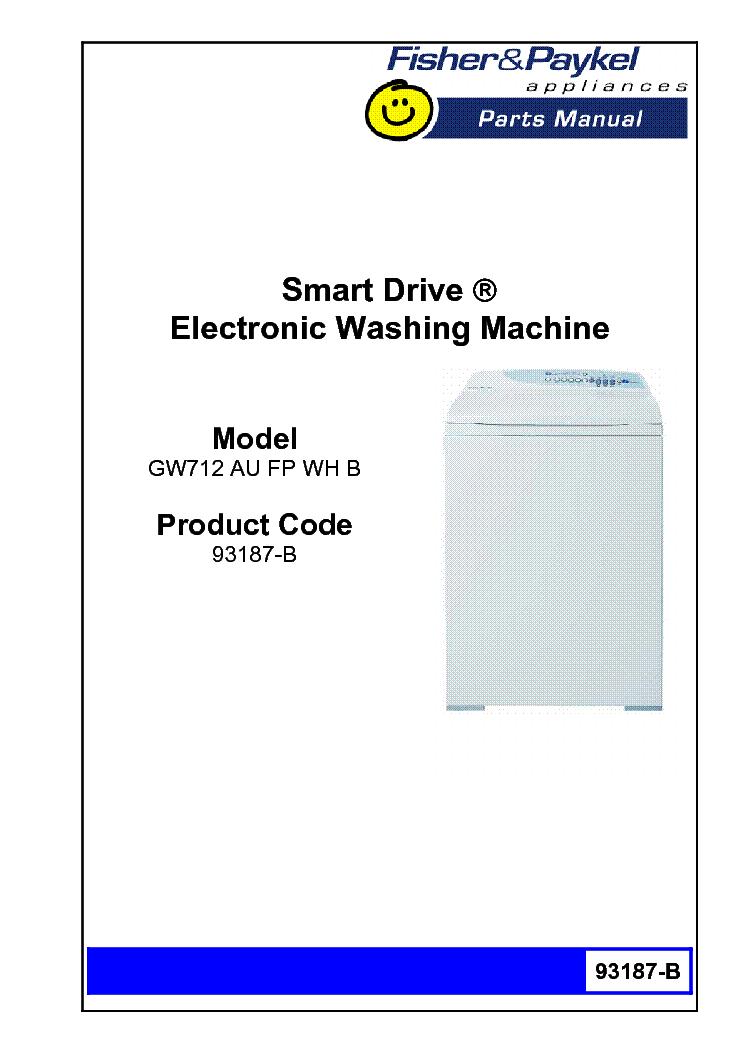 Fisher-paykel smart drive electronic washing machine phase 1-5.