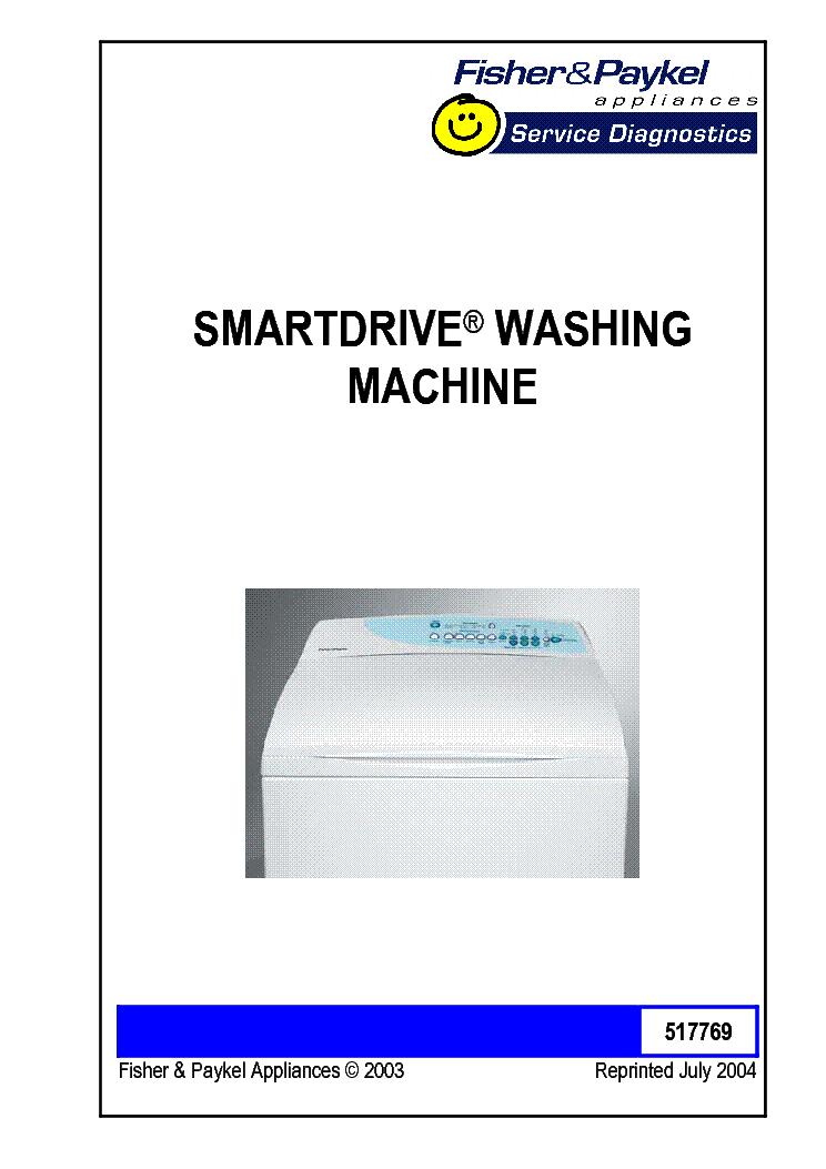 fisher paykel smartdrive washing machine service diagnostics gw mw rh elektrotanya com Fisher and Paykel Washer Diagram Fisher Paykel Washer Troubleshooting Guide
