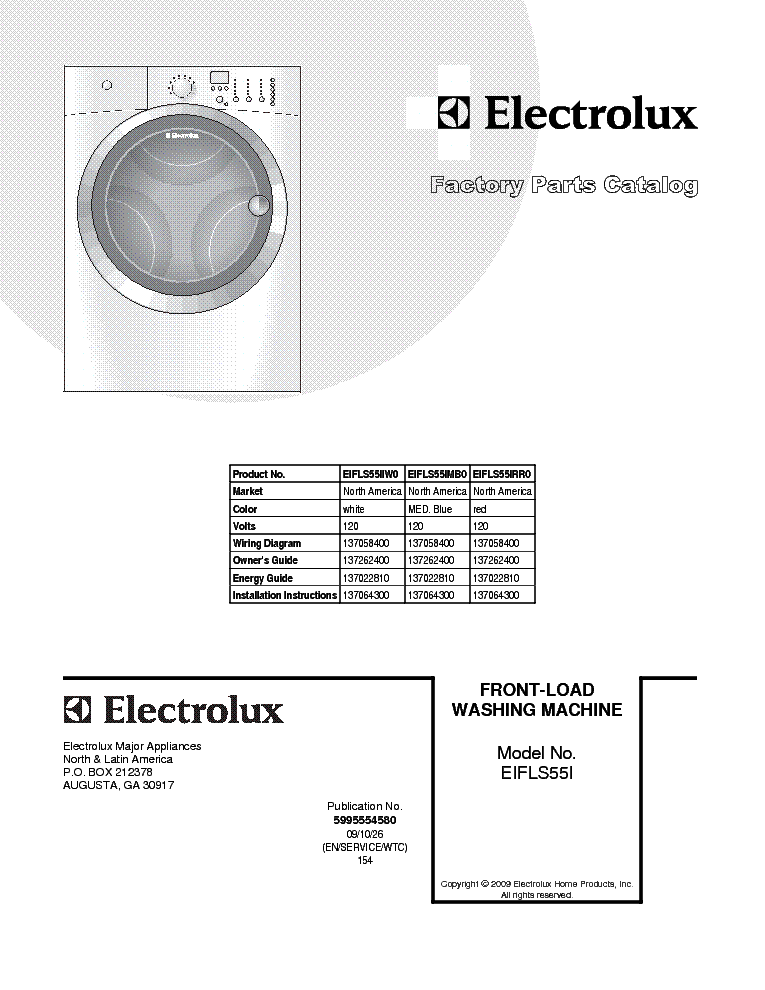 frigidaire eifls55iiw0 service manual download, schematics, eeprom  frigidaire eifls55iiw0 service manual (1st page)