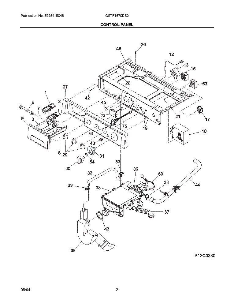 frigidaire gstf1670d service manual download  schematics
