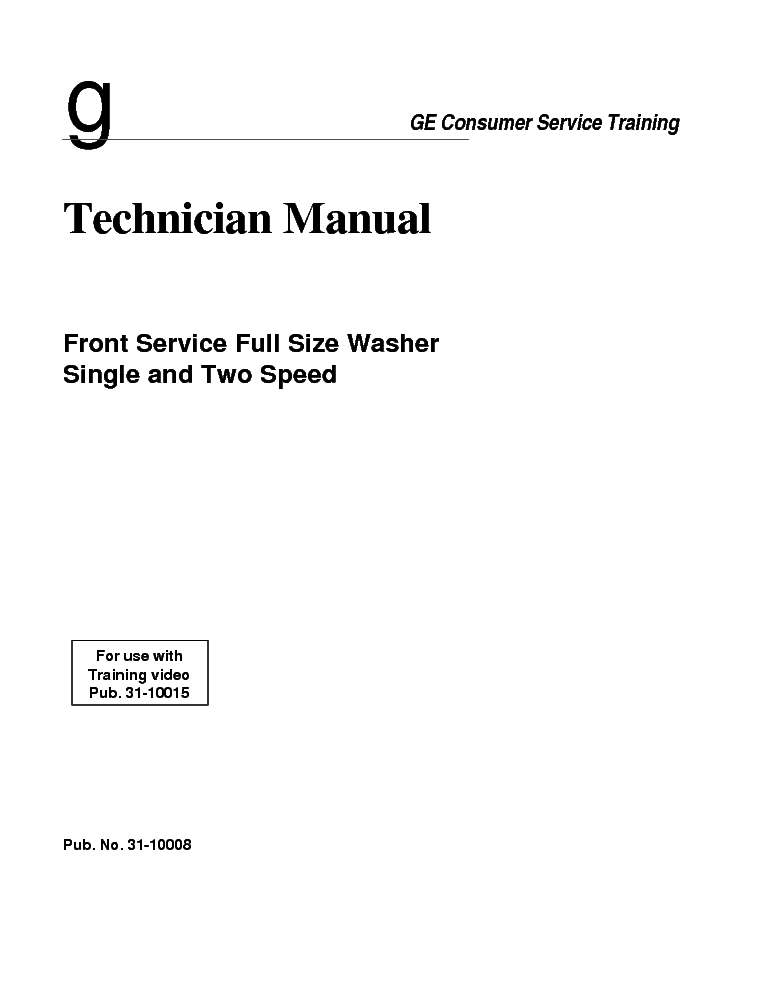 ge washer repair manual pdf