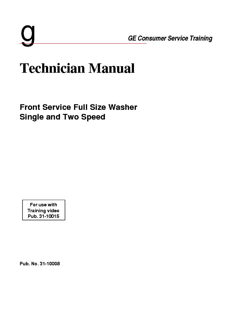 ge washer repair manual pdf