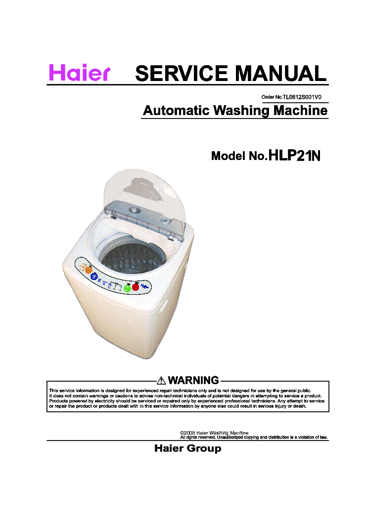 Haier Hlp21n Service Manual Download  Schematics  Eeprom
