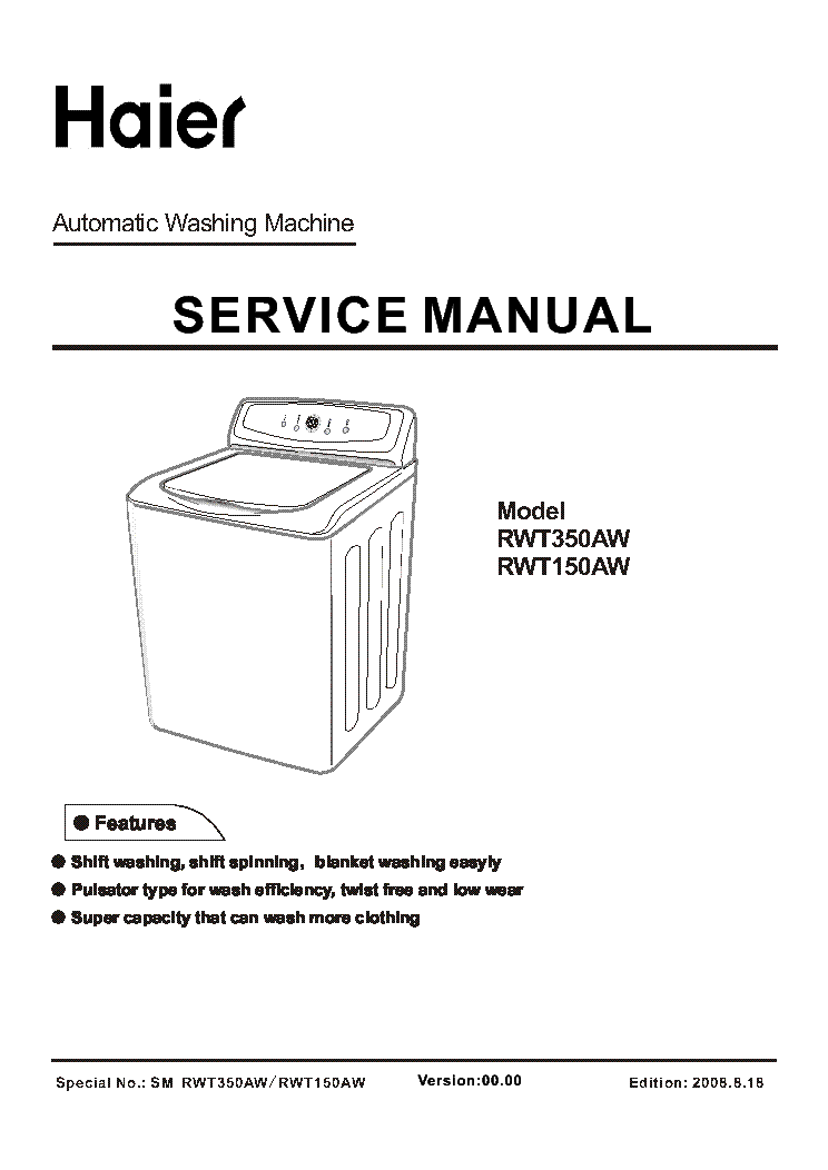 Haier Hrq04wnaww Bc117ar Service Manual Free Download