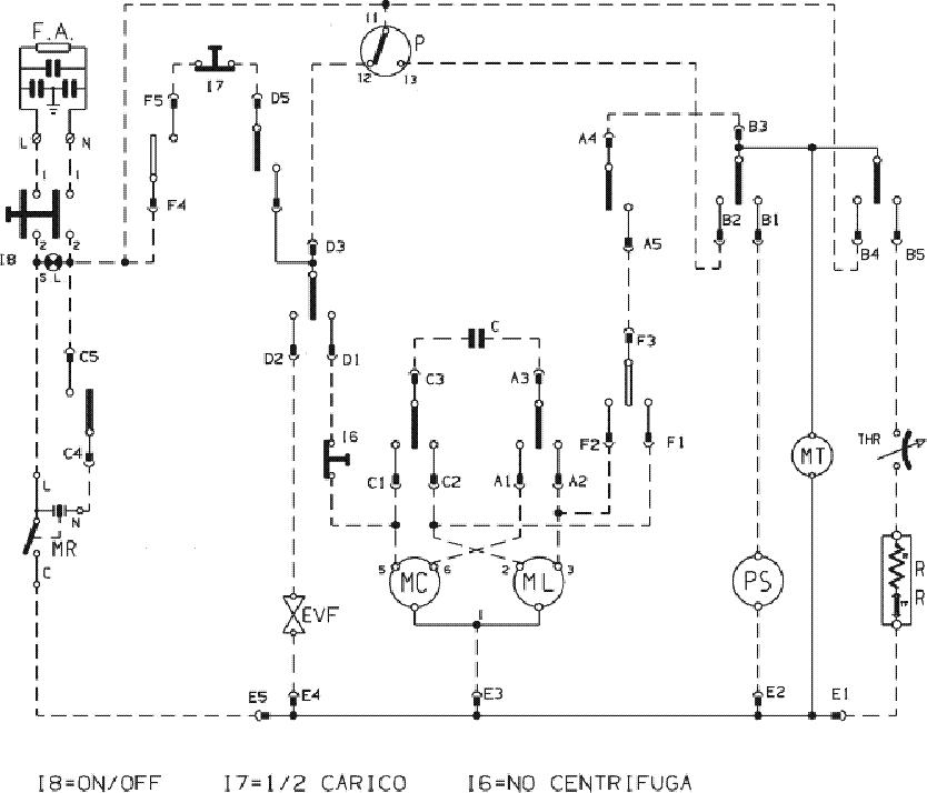 Schema Indesit WN 421 XWU.
