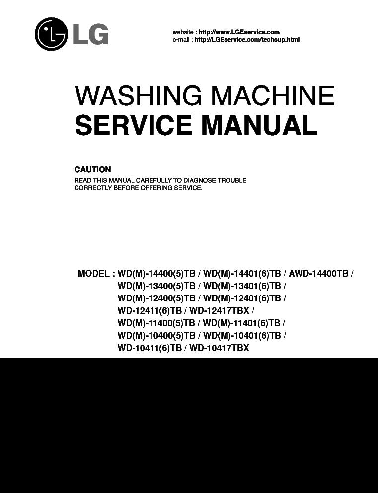 lg wd 8015c manual free