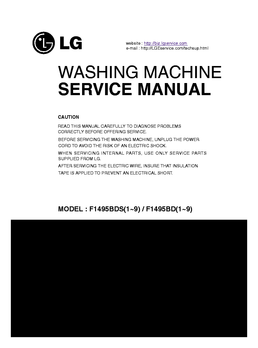LG F1495BD-BDS-1-9 service manual (1st page)