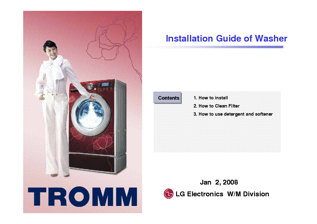 repair manual for lg washing machine