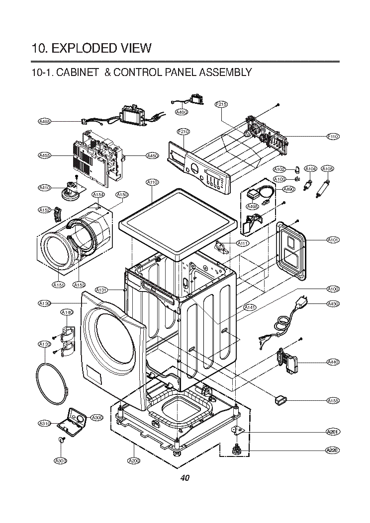 beko washing machine diagram