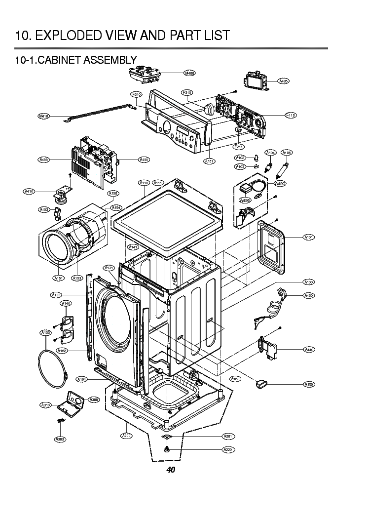 Lg Wd 1255rd Exploded View Service Manual Download