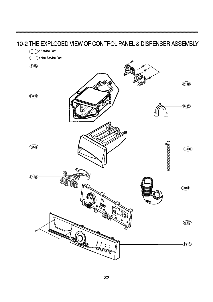 LG WD-8015C EXPLODED VIEW Service Manual download, schematics