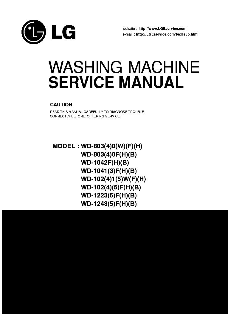 LG WD-803-803-1042F-1041-102-102-1223