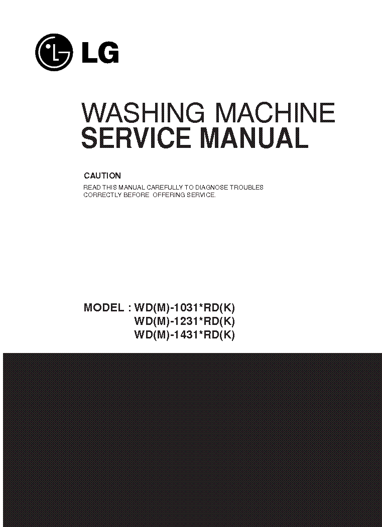 LG WD-M-1031-1231-1431 service manual (1st page)