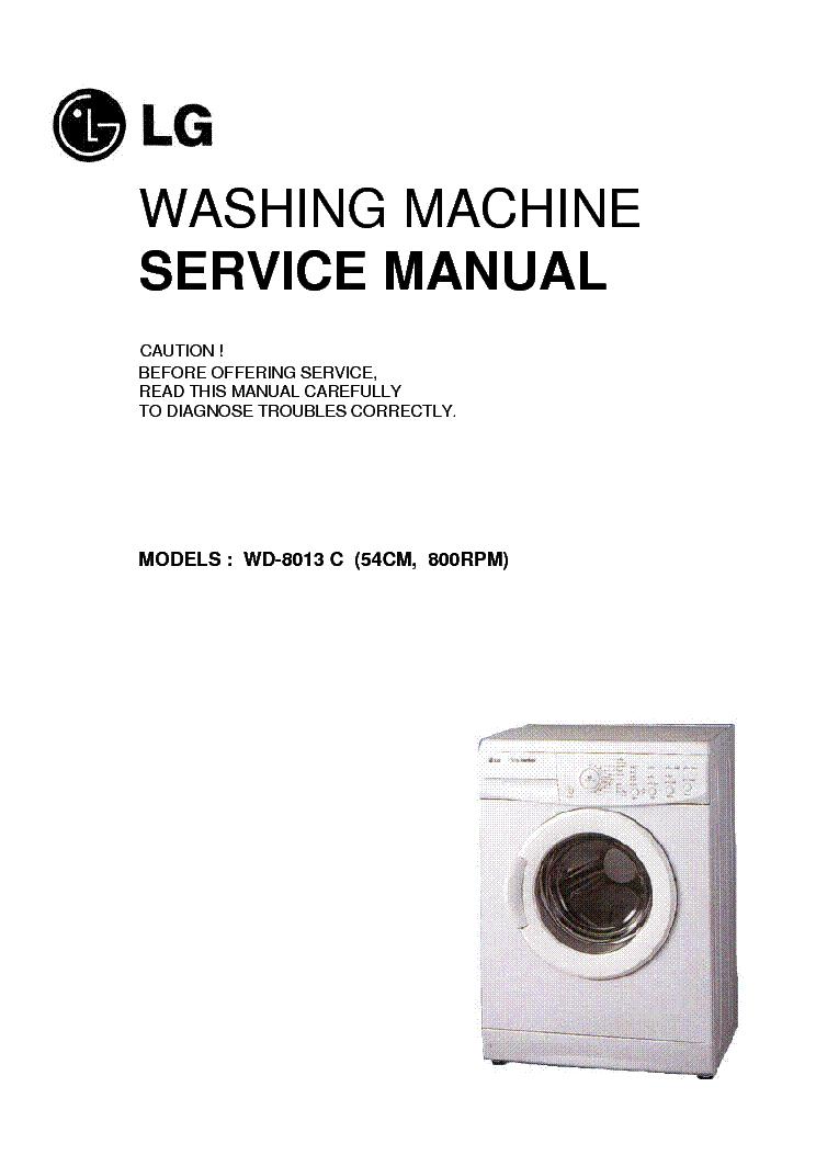 lg wd8013c service manual download schematics eeprom repair info rh elektrotanya com lg inverter washing machine service manual lg washing machine owner's manual