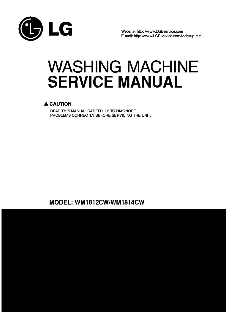 LG WM1812CW WM1814CW SM service manual (1st page)
