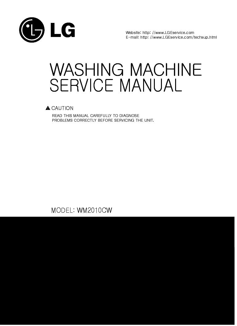 lg washing machine repair manual pdf
