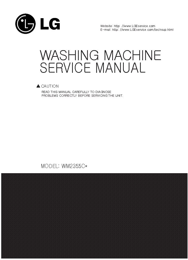 LG WM2355C service manual (1st page)