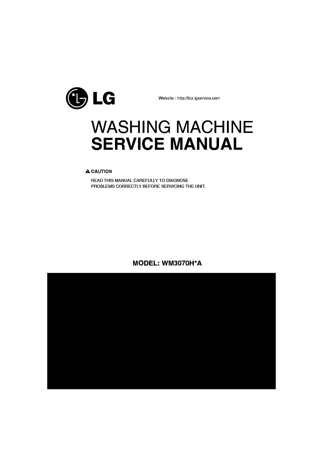 lg washing machine service manual download