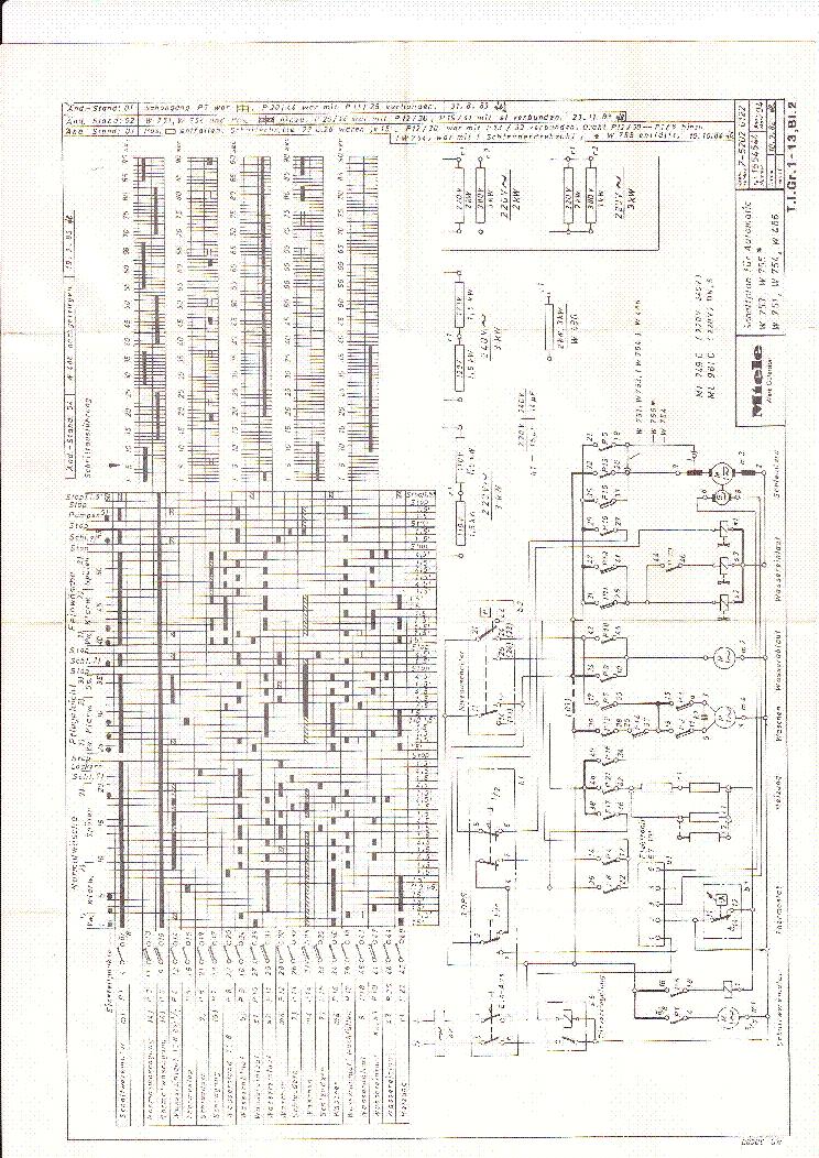 miele 753 755 751 service manual download  schematics