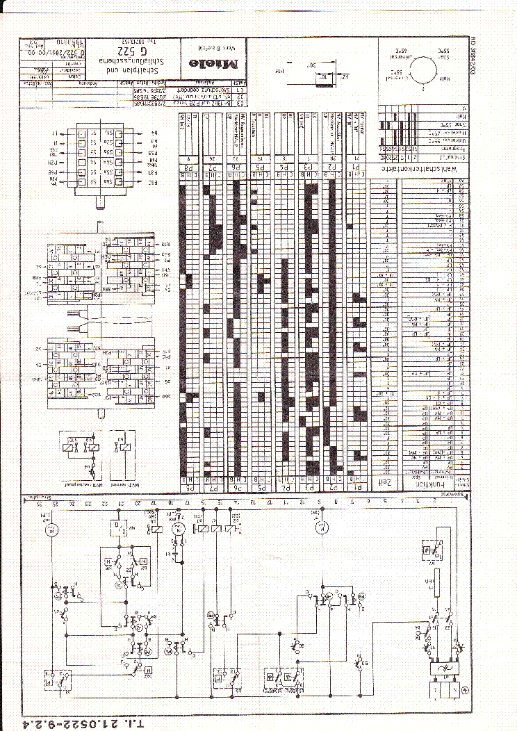 Miele G 522 Service Manual Download  Schematics  Eeprom