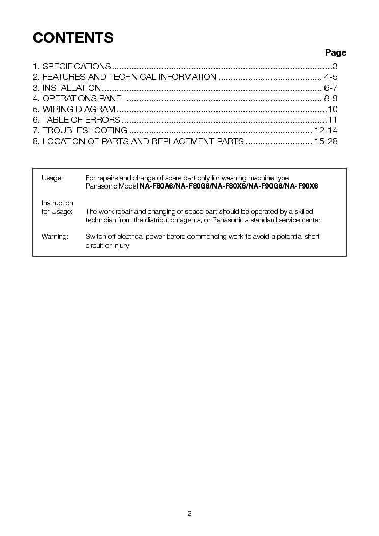panasonic na-f80a6 na-f80g6 na-f80x6 na-f90g6 na-f90x6