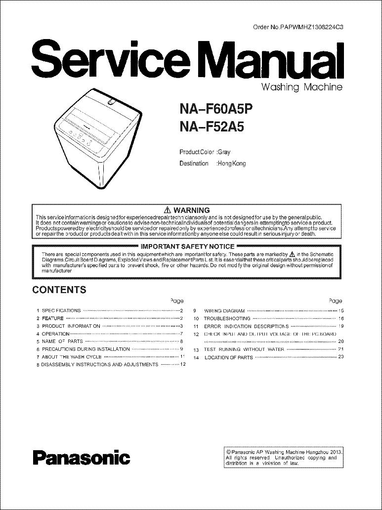 Panasonic Ne1056t Microwave Oven Service Manual Download