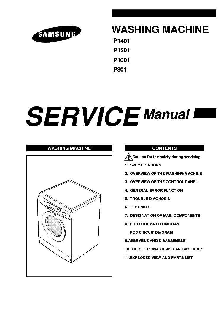 samsung p801 p1001 p1201 p1401 sm 1 service manual