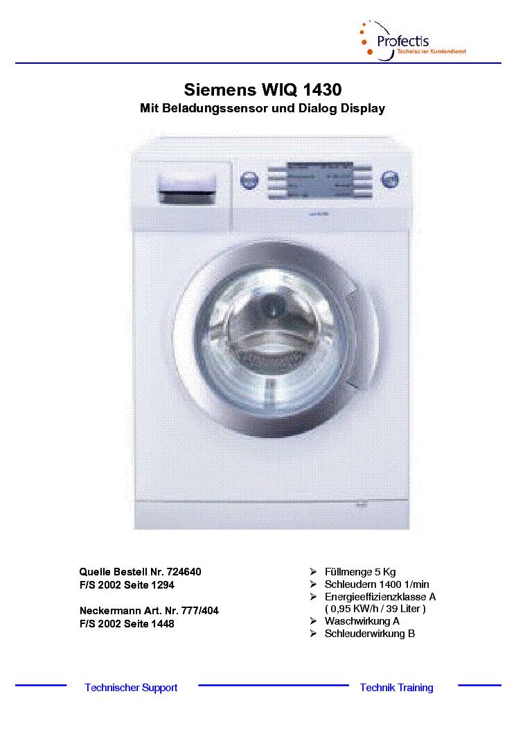 Siemens Iq 1430 Инструкция - instrukciyanp