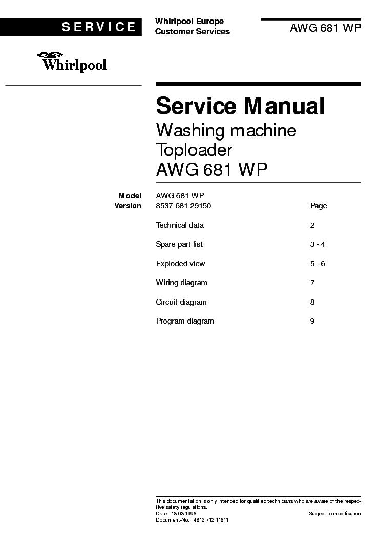 whirlpool awg 681 wp3 service manual download schematics eeprom rh elektrotanya com