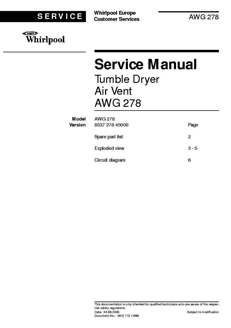 Инструкция whirlpool awg 236