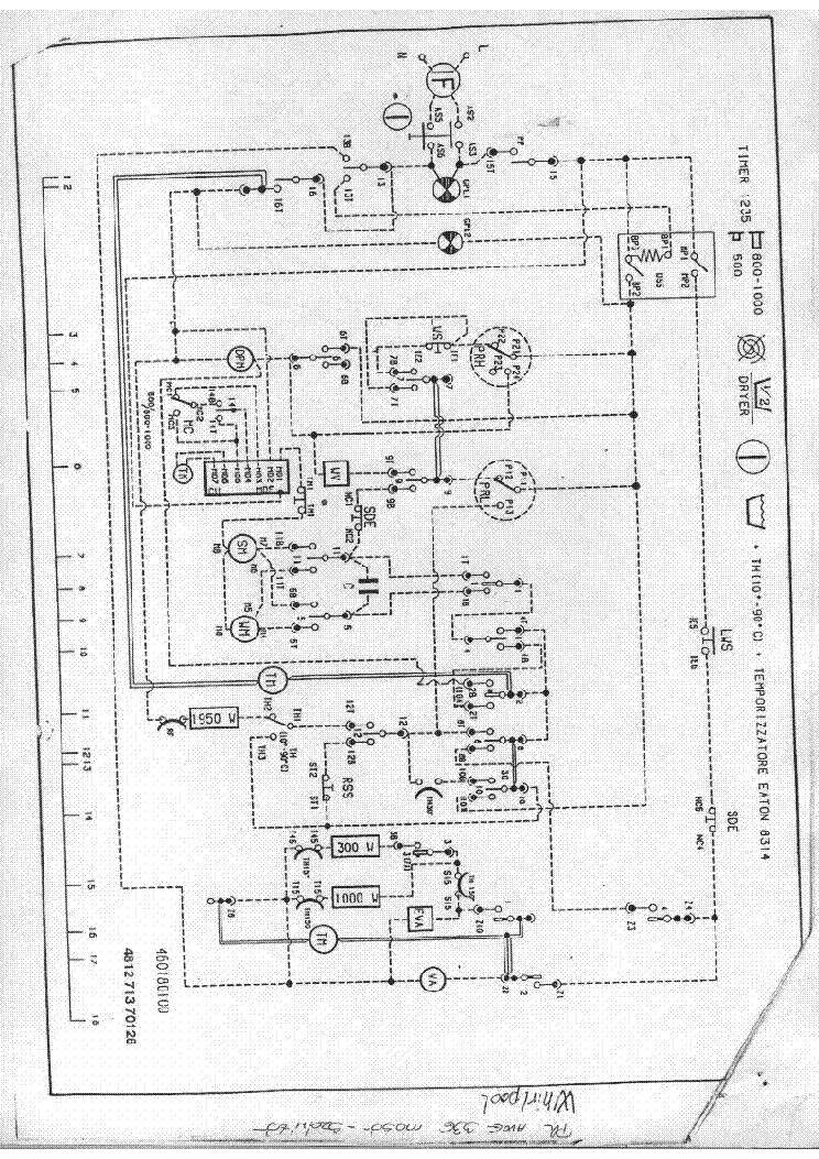 Электро схема стиральная машина вирпул