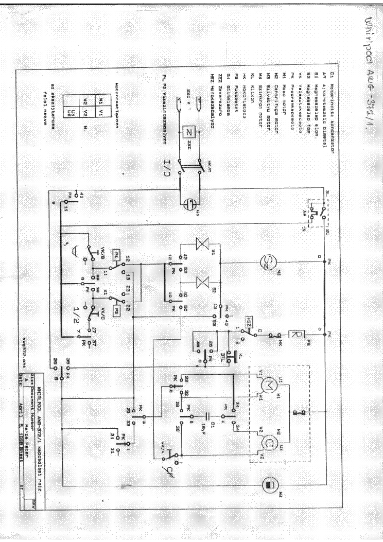 WHIRLPOOL AWG 372 service manual (1st page)
