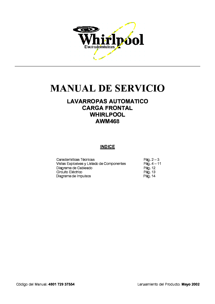 whirlpool cabrio service manual download