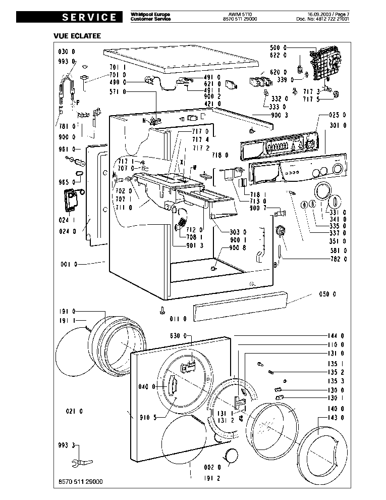whirlpool awm5110 service manual download  schematics