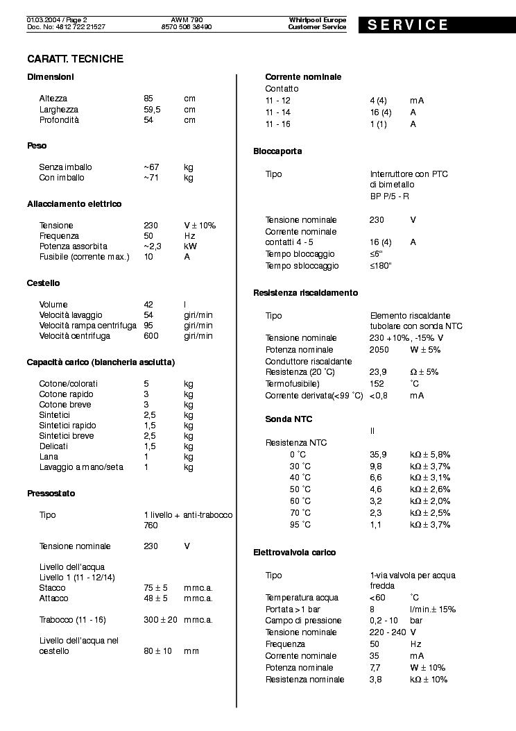 Whirlpool Awm 790 Service Manual Download  Schematics