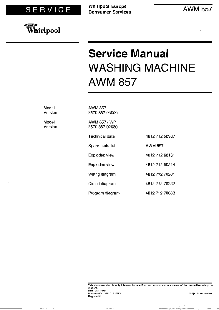 whirlpool washing machine manual pdf