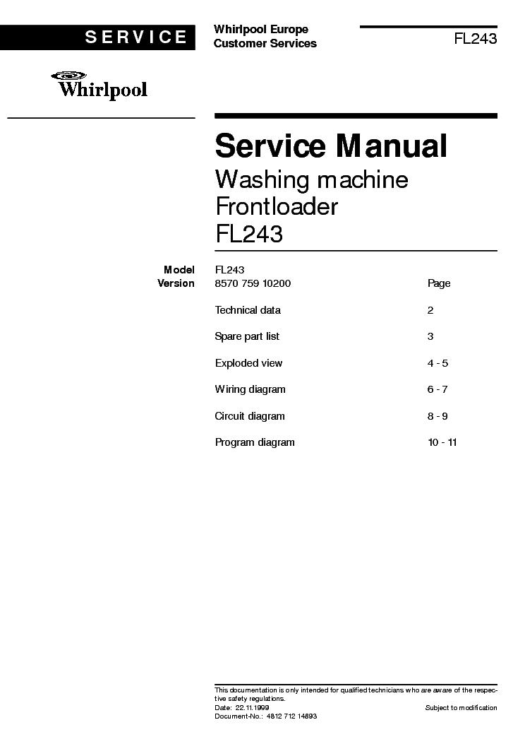Whirlpool dishwasher manuals free.