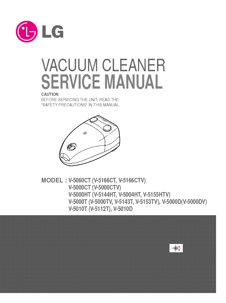 LG V-5166CT SERVICE MANUAL service manual (1st page)