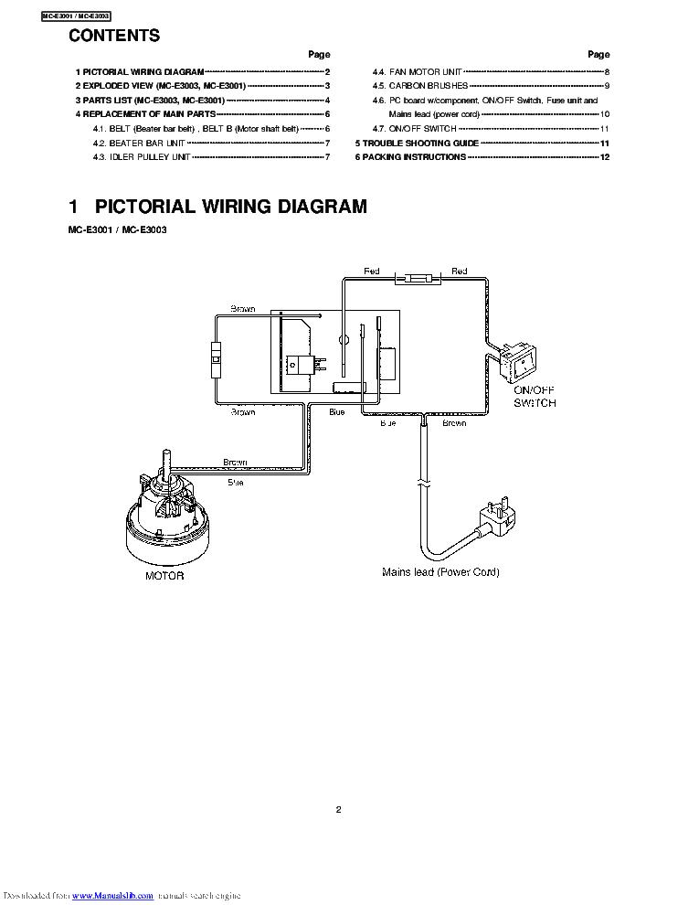 Panasonic Vacuum Parts Diagram