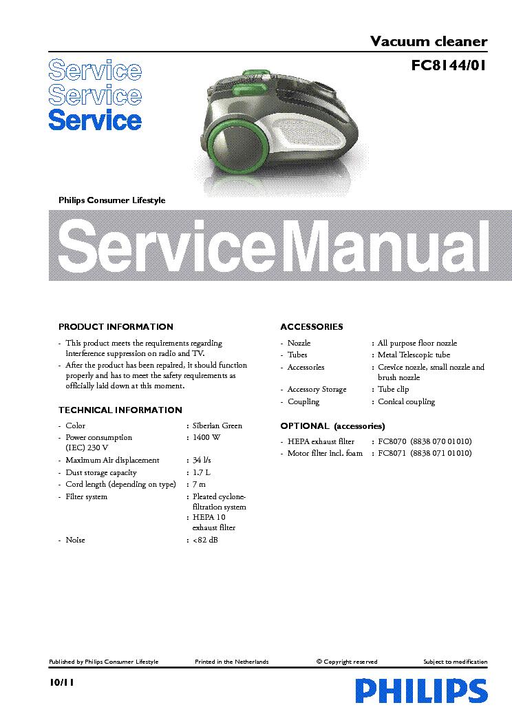 philips fc8144 01 vacuum cleaner service manual download schematics rh elektrotanya com panasonic vacuum cleaner service manual electrolux vacuum cleaner service manual
