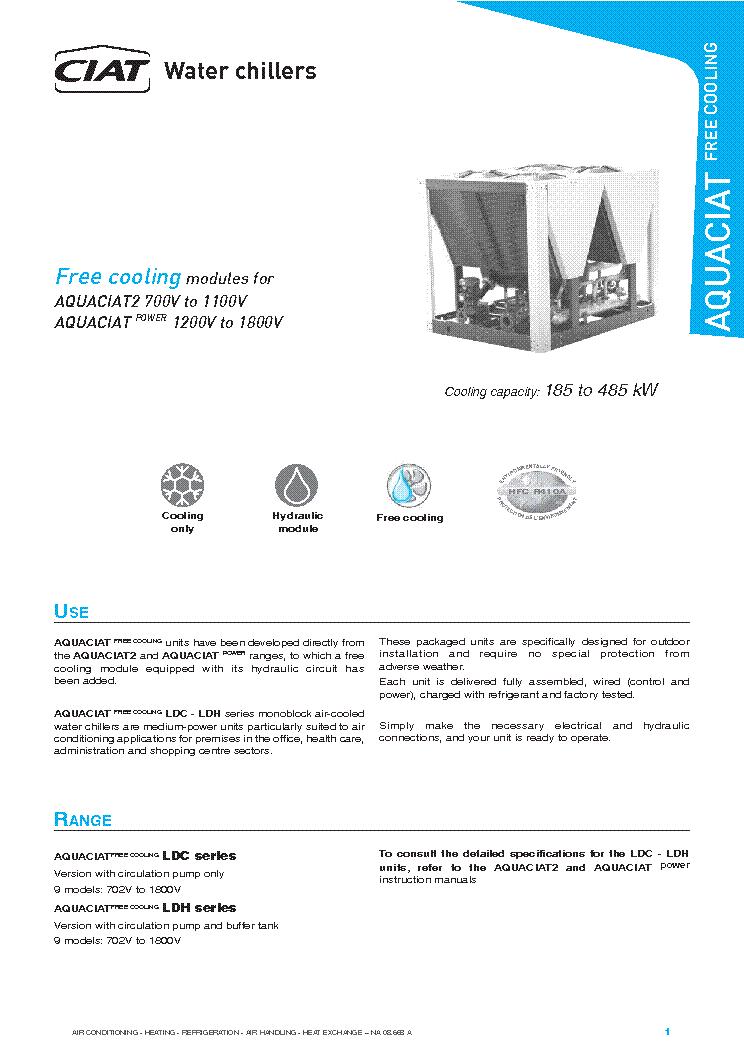 ciat aquaciat 700v 1100v power 1200v 1800v free cooling modules rh elektrotanya com
