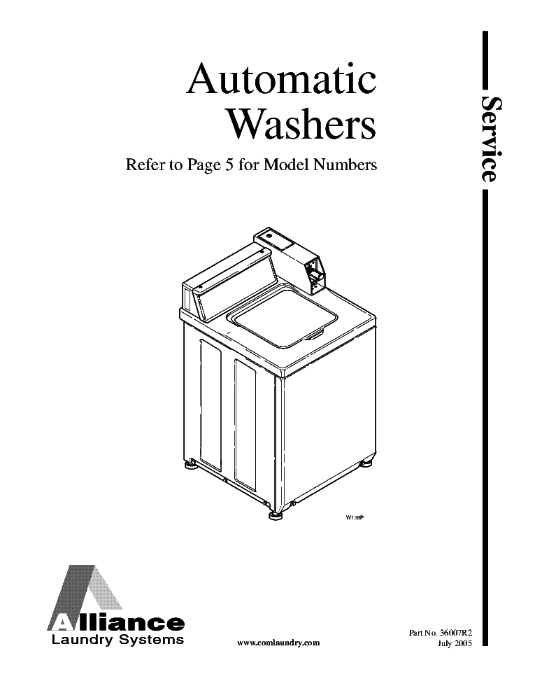 ALLIANCE-LAUNDRY SYSTEMS EA SERIES WASHERS TRAINING Service Manual
