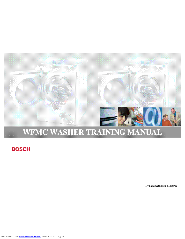 BOSCH WFMC WFMC3200UC TRAINING service manual (1st page)