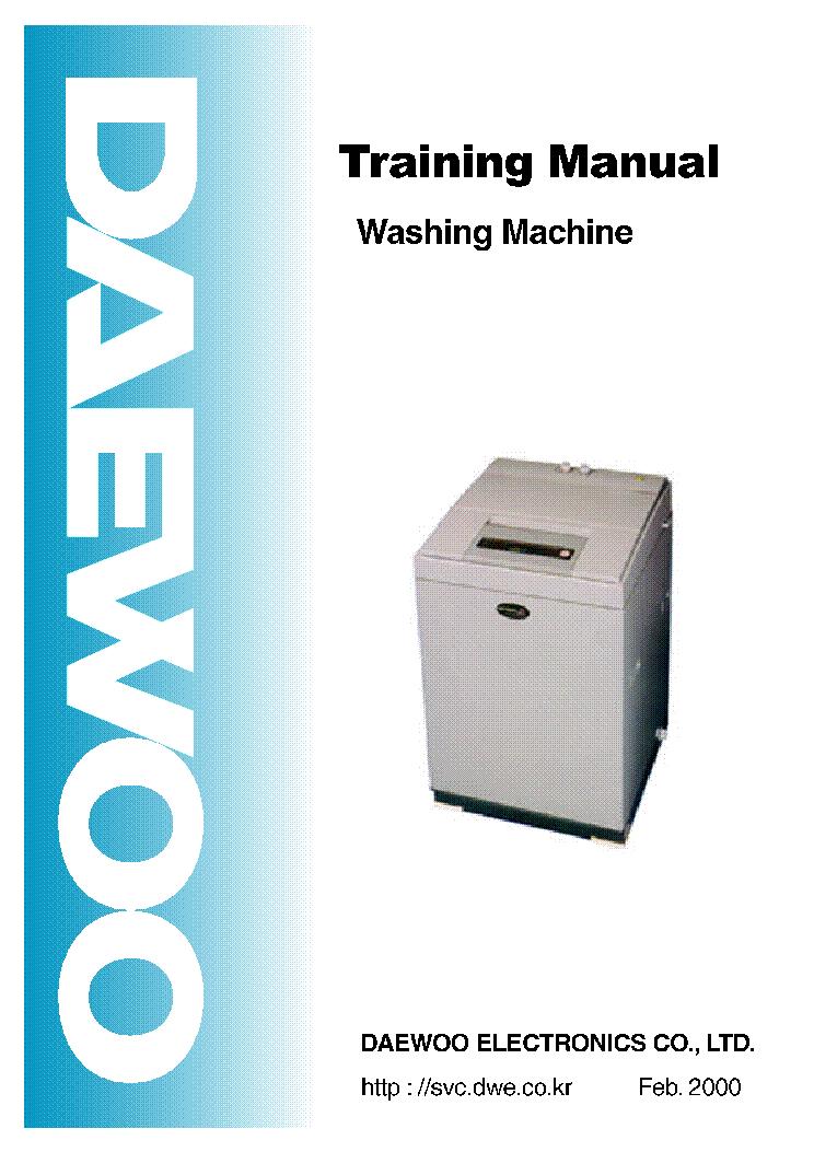 daewoo washing machine repairs