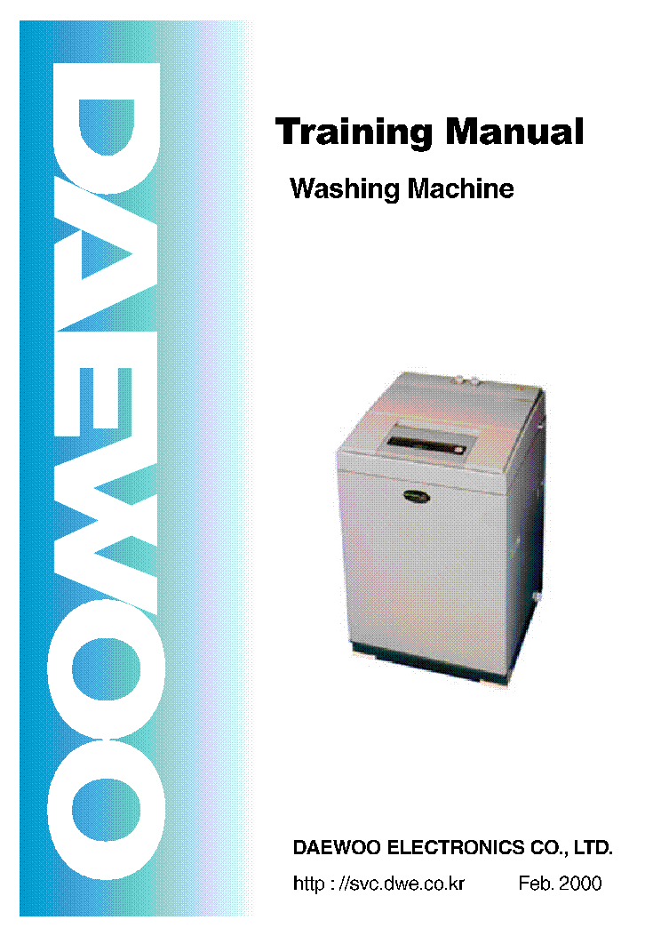 daewoo washing machine training 2000 service manual. Black Bedroom Furniture Sets. Home Design Ideas